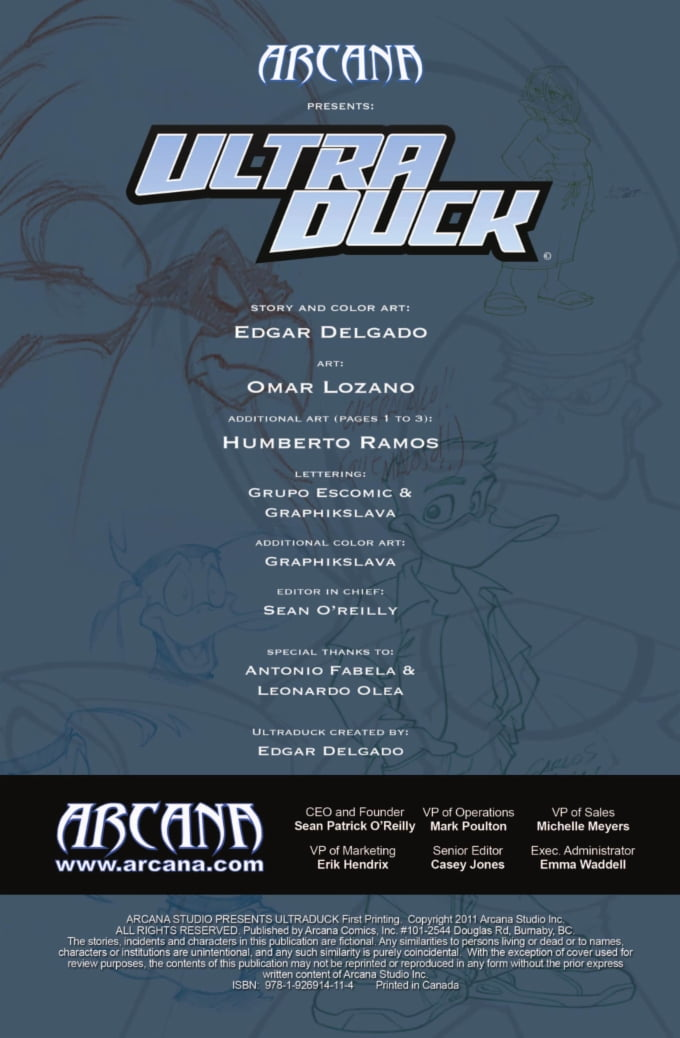 Arcana Comics | Ultraduck | Graphic Novel | Spinwhiz Comics