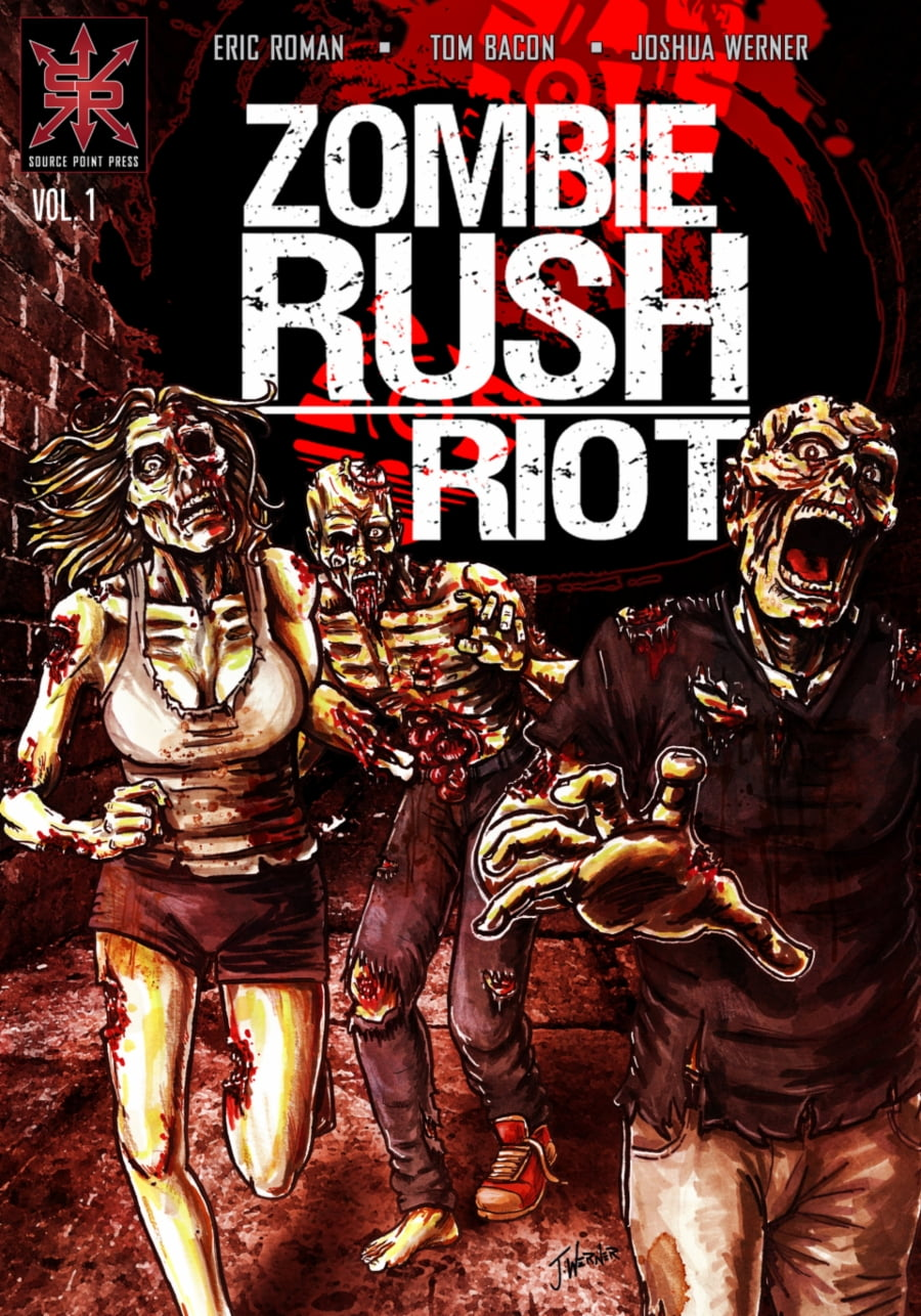 Source Point Press | Zombie Rush: Riot #1 page 1 | Spinwhiz Comics